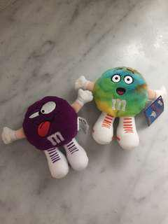 M&Ms collectible plush toys
