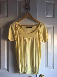 Mastina yellow knit top