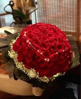 🚚 99 Stalk Rose Bouquet