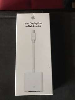 Original brand new apple Mini DisplayPort to DVI adapter