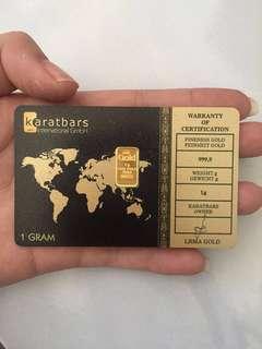 Gold bars 1gram