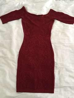 Guess off shoulder dress
