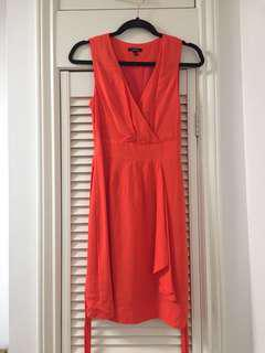 Jacob orange cocktail dress