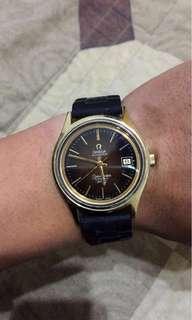 OMEGA 18K金 海馬機械錶