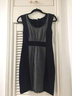 Banana Republic black & grey sleeveless dress