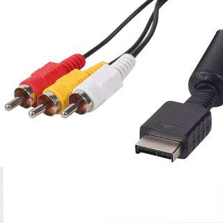 Official Sony AV Cables Compatible with Playstation, PS2 and PS3