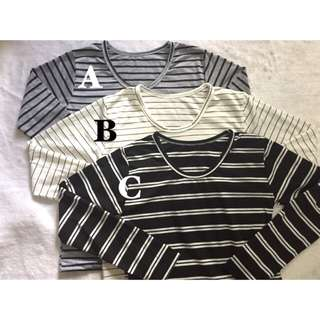 BRAND NEW! LONG SLEEVE STRIPED TOPS