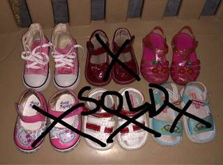 Preloved baby girls shoes