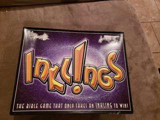 Inklings Bible Study Board Game Used but in good condition vintage price is negotiable