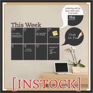 Weekly Planner Chalkboard Decal