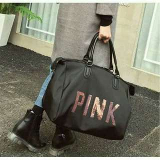 Pink vict Luggage Sling Bag Shoulder Bags Handbag Beg Travel Rm 35 include pos