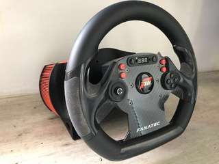 FANATEC CSR WHEEL & WHEEL BASE -The wheelbase needs to be calibrated. I will be giving you another CSR Wheel as well, see 7th picture.