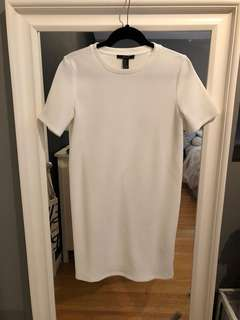 Forever 21 White Knit Dress - SMALL