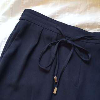 Zara navy blue trousers XS