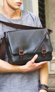 ✔️INSTOCK! Minimalist Mens Black Messenger Pu Leather Bag - Mens Laptop Bag - Ipad Bag - Mens Formal Casual Porter Bag