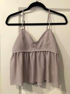 Urban Outfitters lilac babydoll blouse - SMALL