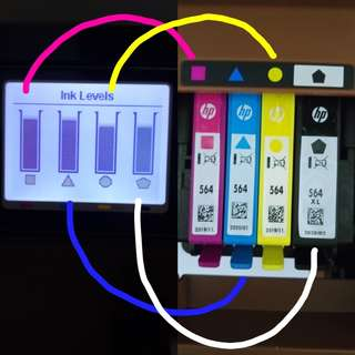Hewlett Packard HP 564 Cyan Magenta Yellow Black XL Original Printer Ink Cartridge