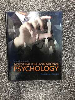 Introduction to Industrial/Organizational Psychology (PSY201)