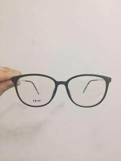 Black Eyeglasses with Gold Details
