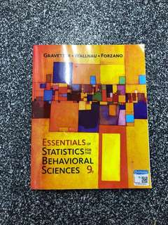 Essential of Statistics for the Behavioral Science