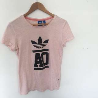Baby Pink Adidas Top