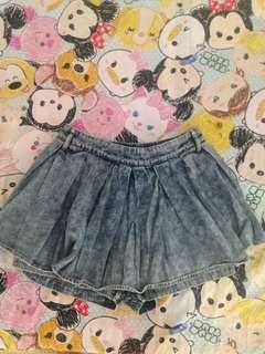 Mini skirt celana denim