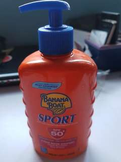 Banana boat sunscreen protection