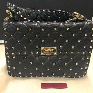 Valentino chain bag 華倫天路鍋釘鏈袋 黑色經典款 (Medium Size)