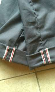 Celana chinos grey custom size 30