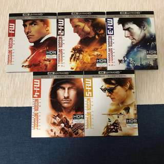 (4K UHD) Mission Impossible 1-5 collection Ultra HD Bluray