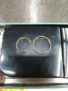Plain Gold Pair Wedding Ring