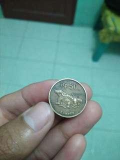 Uang koin Rp. 50 tahun 1998