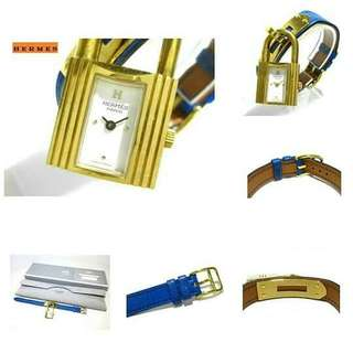 Hermes Kelly Blue Watch Item no Tlv002866 Comes with box case and card Size 20 x 16cm Price 29,990 pesos