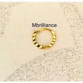 🚚 916 gold nose ring by Mbrilliance