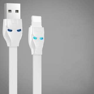 叉電線 [WHITE] USB Lightning Charging Cable iPhone X Iron Man
