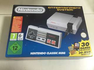 Brand new Nintendo Classic Mini with pre installed 30 games