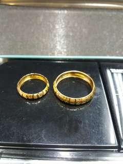 Pair Gold Wedding Band