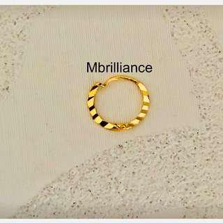 Nose Ring -  916 gold mbrilliance
