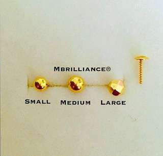 🚚 Nose stud 916 gold Mbrilliance