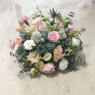 Fresh Flower Arrangement in Pastel Theme