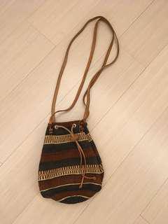 🚚 皮繩麻料水桶包