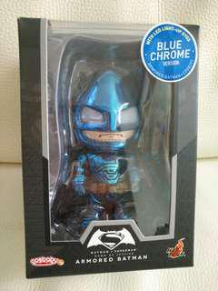 Hottoys cosbaby armored batman blue chorme