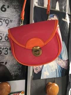Pink Orange Trim Bag