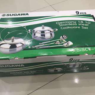 Sugawa stainless steel cookware set