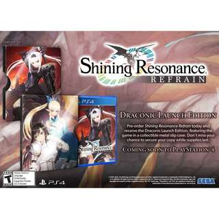 BNIB Shining Resonance Refrain: Draconic Launch Edition - PlayStation 4