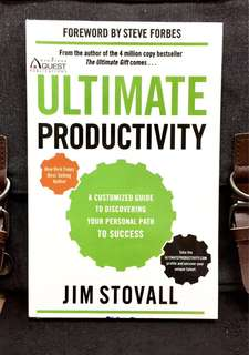 《Preloved Paperback + (Motivation + Communication + Implementation =Ultimate Productivity = Success 》Jim Stovall - Ultimate Productivity : A Customized Guide to Discovering Your Personal Path to Success