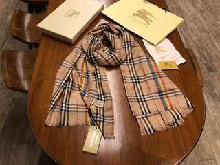 Burberry 彩虹紀念款 圍巾