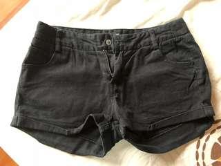 Preloved Black Cotton Shorts