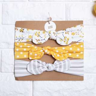 🚚 Instock - 3pc yellow assorted headband, jansmajx