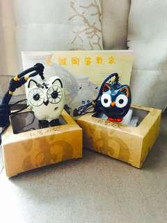 (NEW & UNUSED) Owl Ocarina Pendant with Guide Book